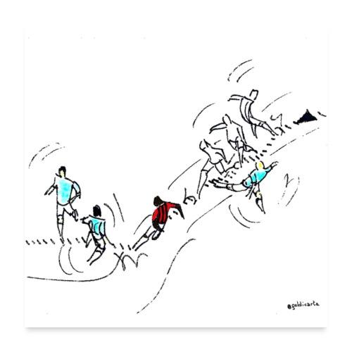 il dribbling - Poster 60x60 cm