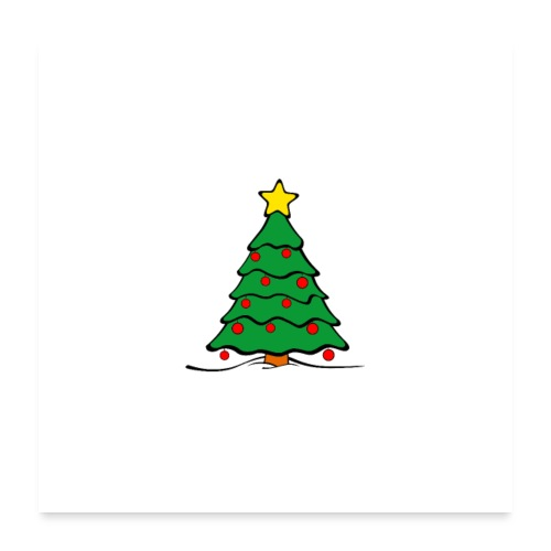 Christmas-Tree - Poster 60x60 cm