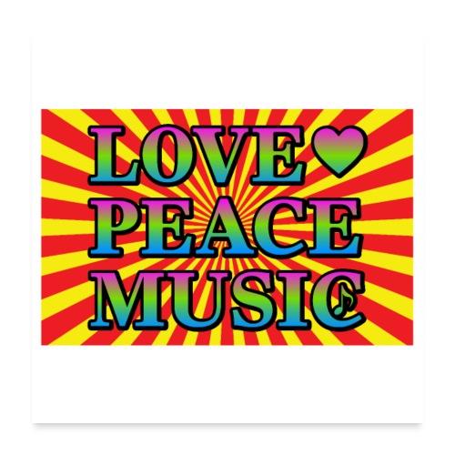 Love Peace Music - Poster 24 x 24 (60x60 cm)