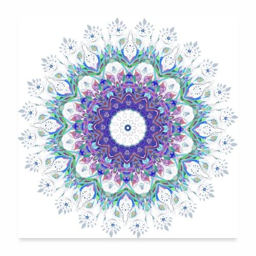 Lilla mandala pastel - Poster 60x60 cm