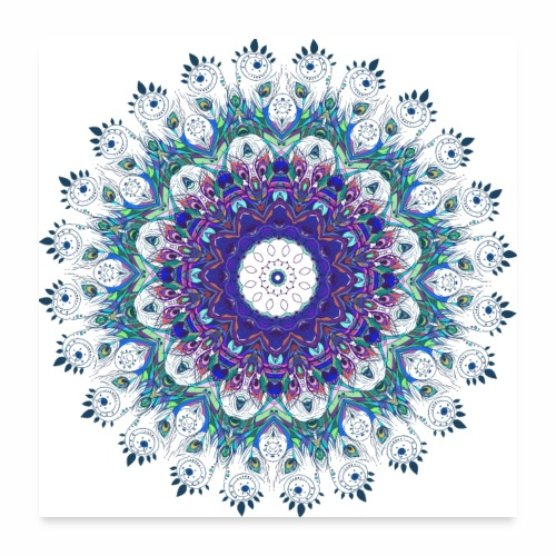 Mørk lilla mandala - Poster 60x60 cm