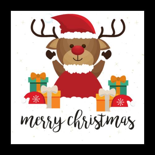 Merry Christmas - Poster 60x60 cm