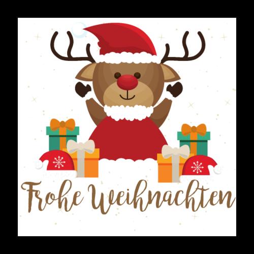 Frohe Weihnachten - Poster 60x60 cm