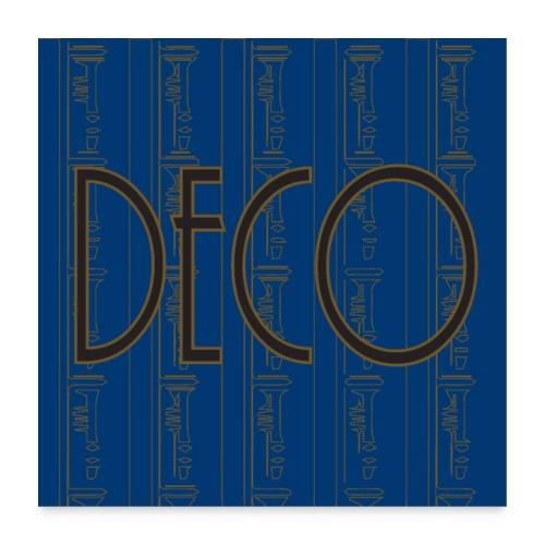 Deco print Blue Gold - Poster 24 x 24 (60x60 cm)