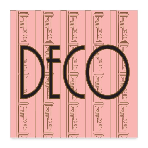 Deco Print Pink-Gold - Poster 24 x 24 (60x60 cm)