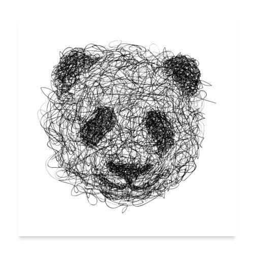 Panda poster - Poster 60 x 60 cm