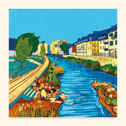 Neue Ufer - Poster 60x60 cm