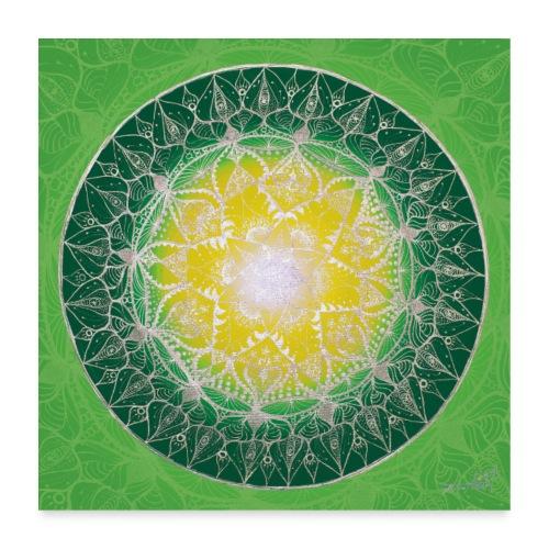 SoulArt Mandala Heilungs-Mandala - Poster 60x60 cm