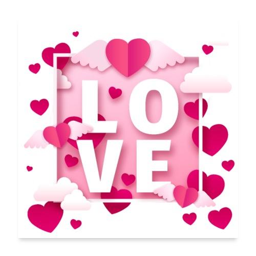 Koszulka miłość 11 - Plakat o wymiarach 60 x 60 cm