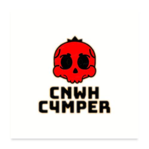 CnWh C4mper Merch - Poster 60x60 cm