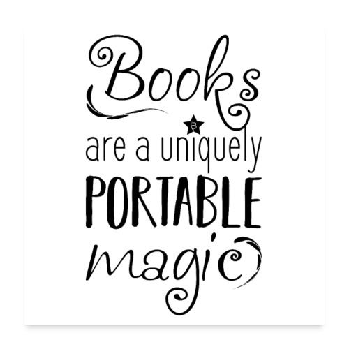 0025 books | Magic | Magic | uniqueness - Poster 24 x 24 (60x60 cm)