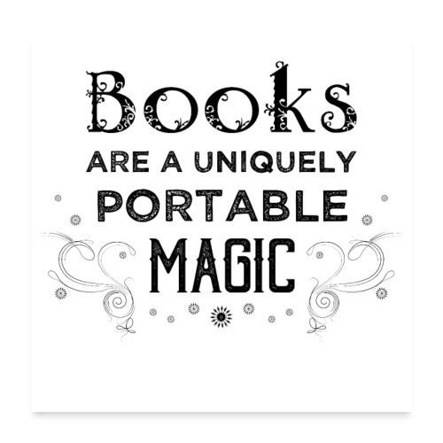 0027 book lover | Magic | Reading | Reader | book - Poster 24 x 24 (60x60 cm)