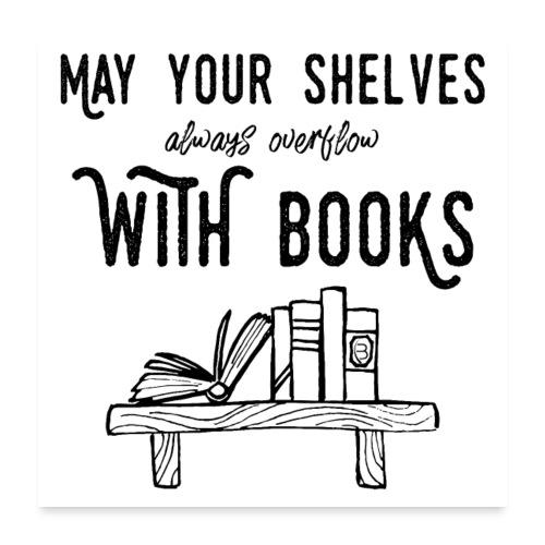 0036 bookshelf | Stack of books | Book | Read - Poster 24 x 24 (60x60 cm)
