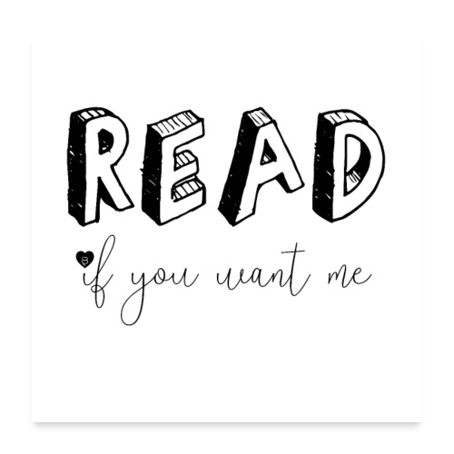 0045 Read | Book | Desire | eroticism - Poster 24 x 24 (60x60 cm)