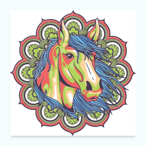 Mandala horse - Poster 24 x 24 (60x60 cm)