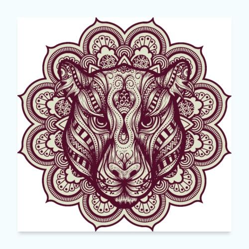 Mandala Tiger - Poster 24 x 24 (60x60 cm)