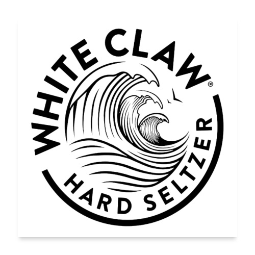 white claw beer - Poster 24 x 24 (60x60 cm)