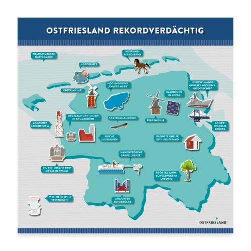 Ostfriesland Rekordverdächtig - Superlative - Poster 60x60 cm