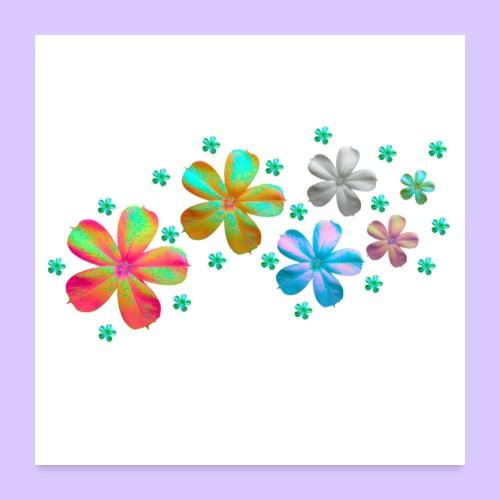 Blumen - Wiese - Poster 60x60 cm