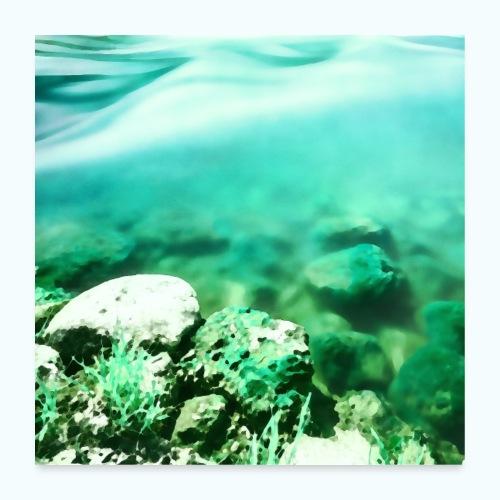 Zen beach watercolor minimalism - Poster 24 x 24 (60x60 cm)