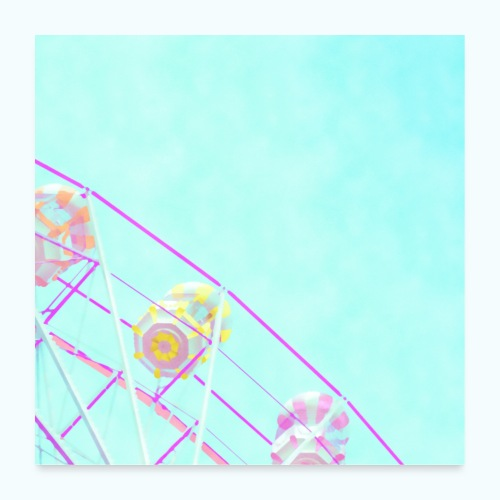 Fairy pastel watercolor - Poster 24 x 24 (60x60 cm)
