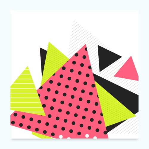 Neon geometry shapes - Poster 24 x 24 (60x60 cm)