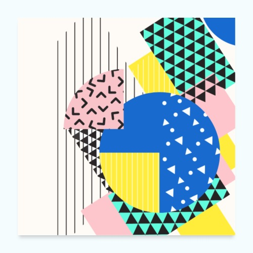 Retro Vintage Shapes Abstract - Poster 24 x 24 (60x60 cm)
