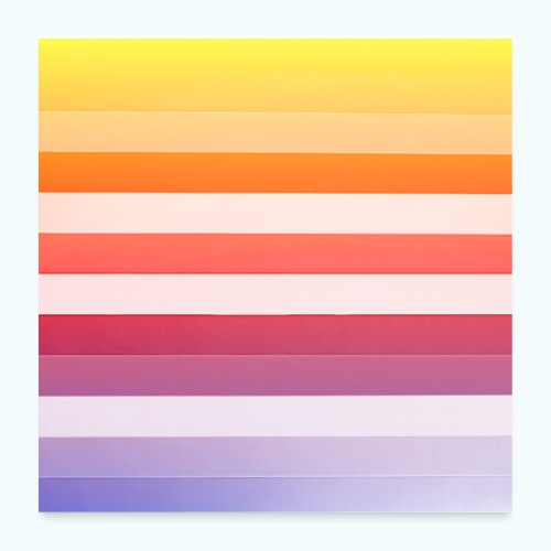 Rainbow Abstract Acrylic Painting - Poster 24 x 24 (60x60 cm)