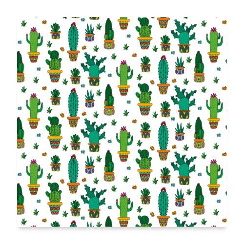 Kaktus Kakteen Wüste Wüsten Pflanze Muster - Poster 60x60 cm