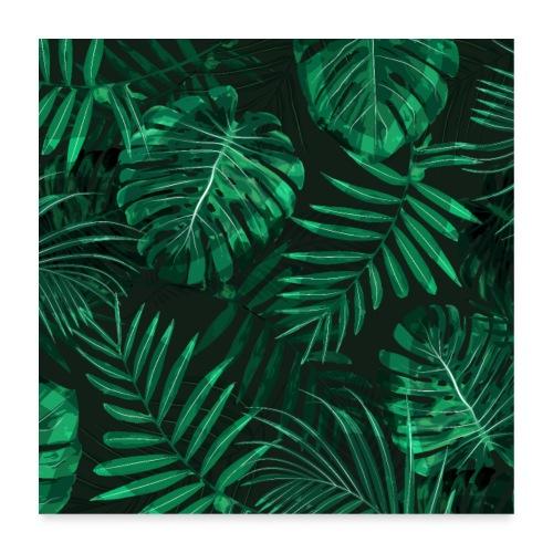 Tropischer Farn Topen Regenwald Blätter - Poster 60x60 cm