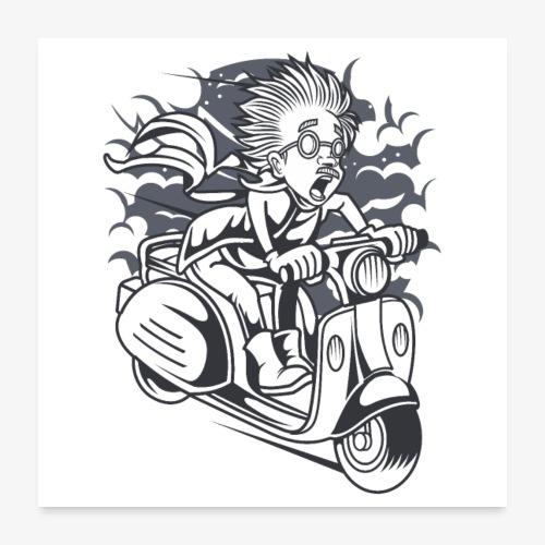 Roller Wissenschaftler - Poster 60x60 cm