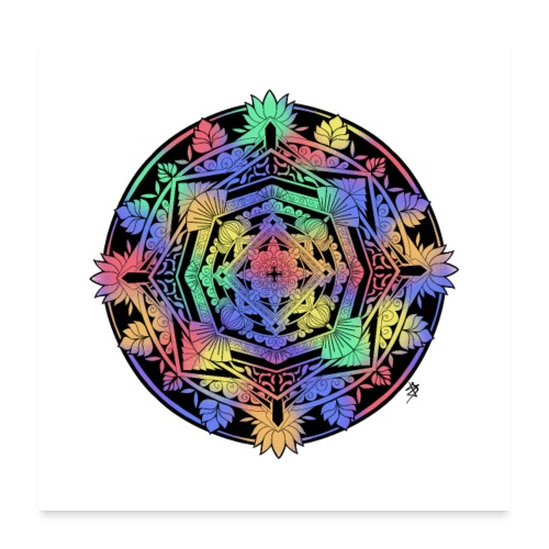 Mandala Colorful - Poster 60 x 60 cm