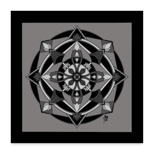 Mandala Mosaïque - Poster 60 x 60 cm