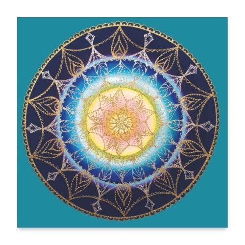 SoulArt Mandala Sternenkind - Poster - Poster 60x60 cm