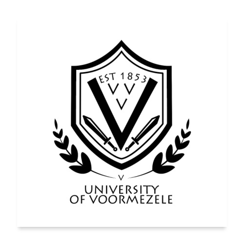 University of Voormezele - poster - Poster 60x60 cm