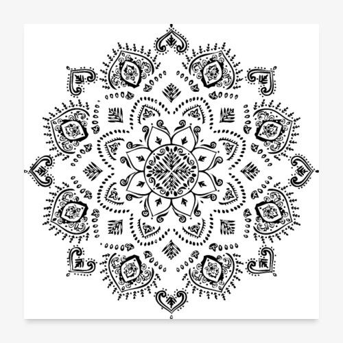 Mandala - Poster 24 x 24 (60x60 cm)