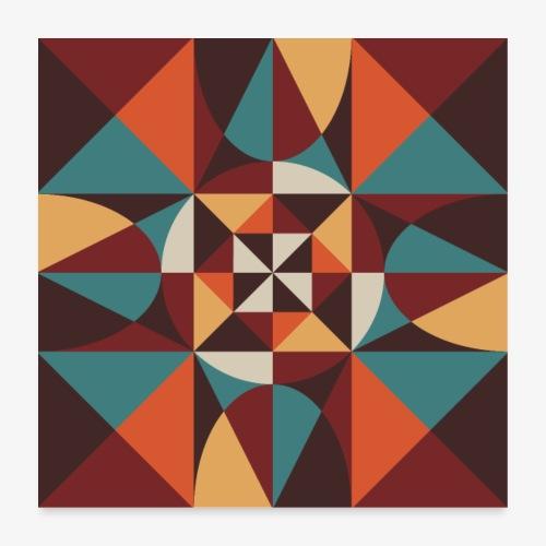 Geometric retro poster 02 - Plakat o wymiarach 60 x 60 cm