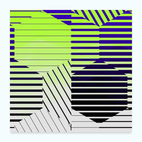 Abstract geometry - Poster 24 x 24 (60x60 cm)