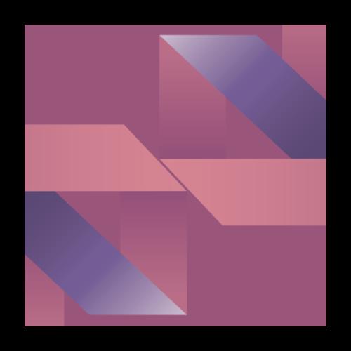 Abstrakt Geometrische Vintage Komposition - Poster 24 x 24 (60x60 cm)