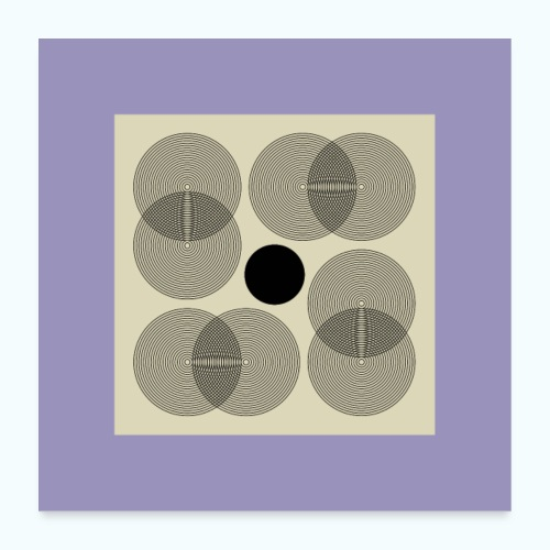 Geometric Mid Century Modern Composition - Poster 24 x 24 (60x60 cm)