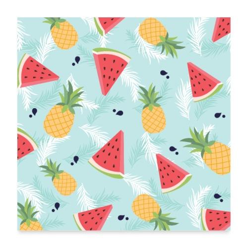 Summer Fruits - Poster 60x60 cm
