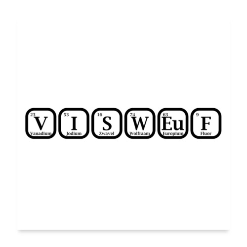 Poster Visweuf - Poster 60x60 cm