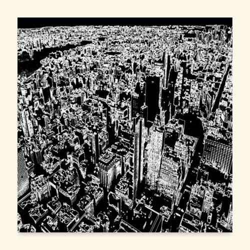 Manhattan a gessetto - Poster 60x60 cm