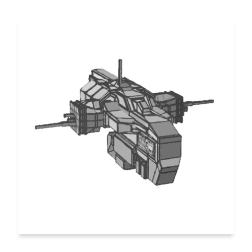 nave espacial 2 - Póster 60x60 cm
