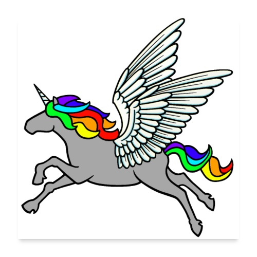 Pegasus-Einhorn - Poster 60x60 cm