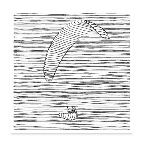 Paraglider - Poster 60x60 cm