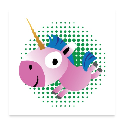 unicorn - Poster 60x60 cm