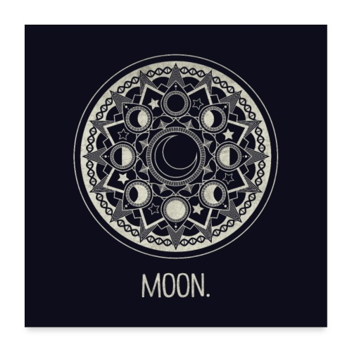 Mondmandala (hell) - Poster 60x60 cm