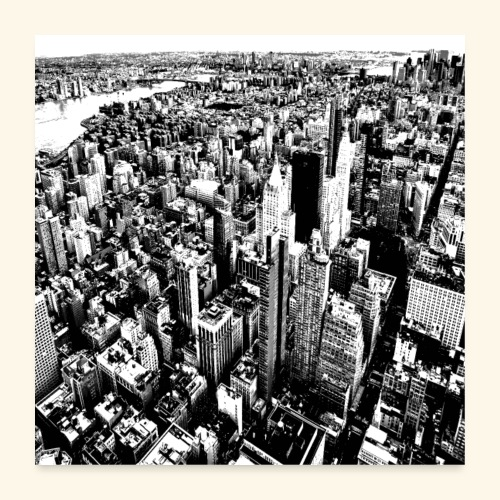 Manhattan in bianco e nero - Poster 60x60 cm