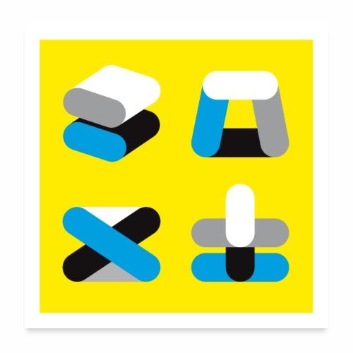 Vier Dinge - Poster 60x60 cm